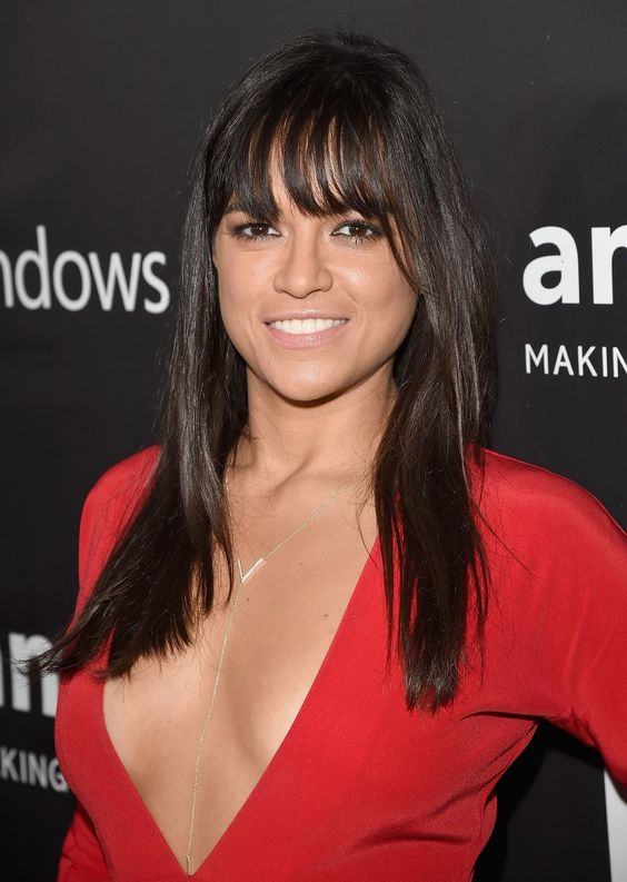 Michelle Rodriguez Hot in Red