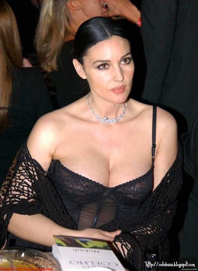 Monica Bellucci sexy cleavages