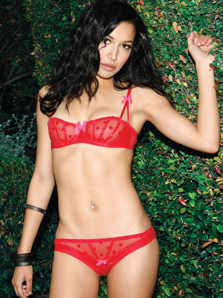 Naya Rivera in Red Bikini