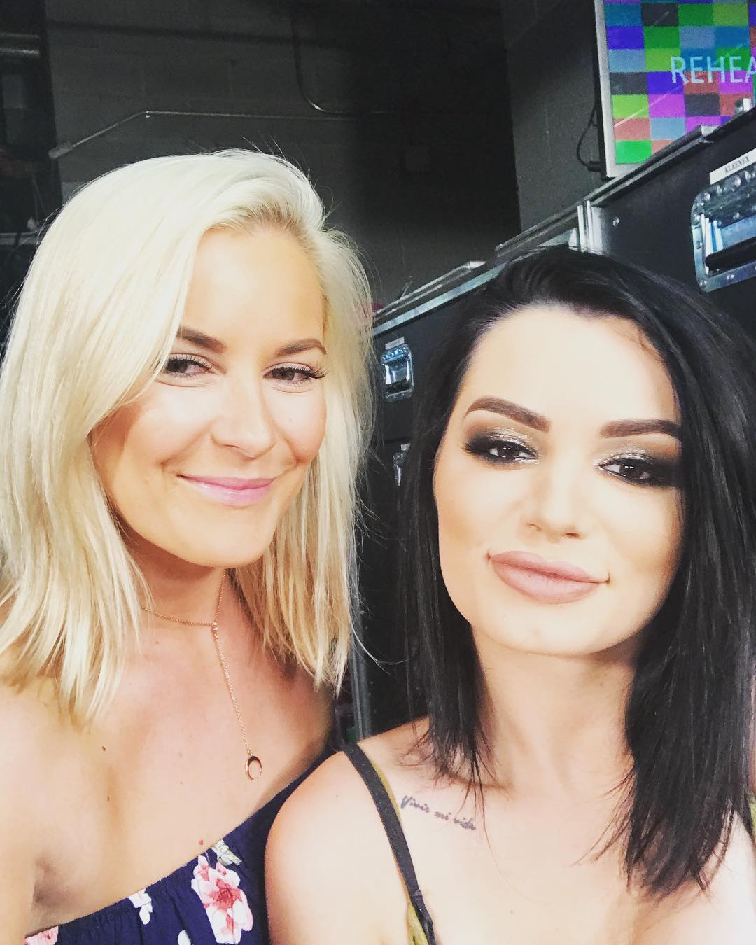 Renee Young with Friend