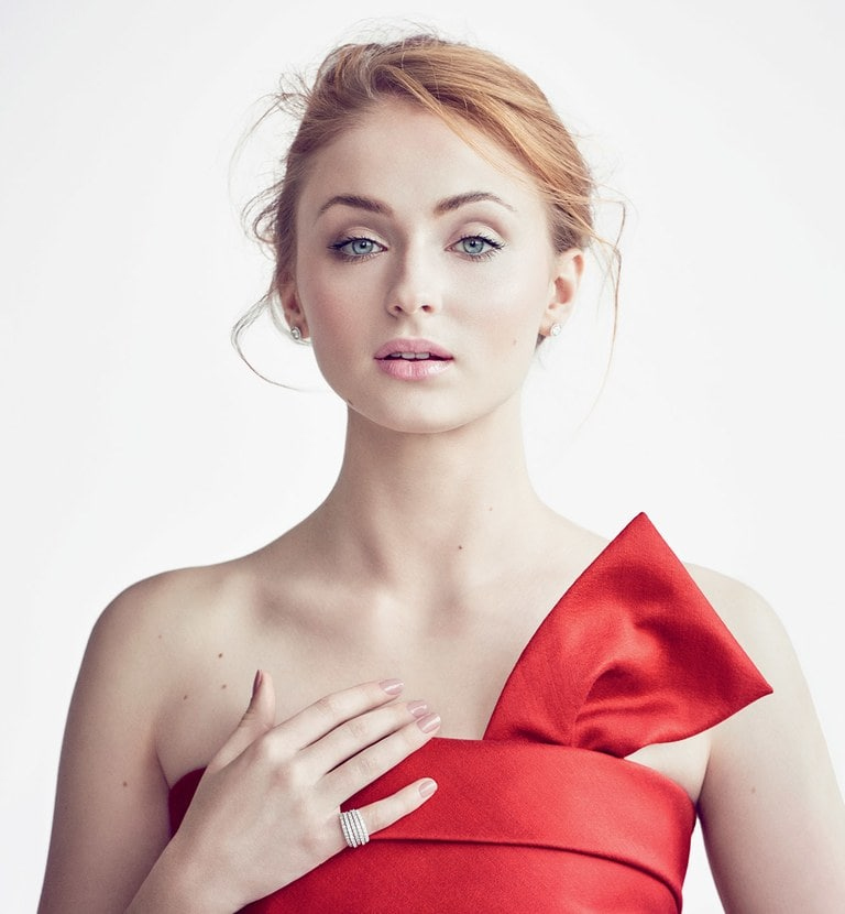 Sophie Turner Hot in Red