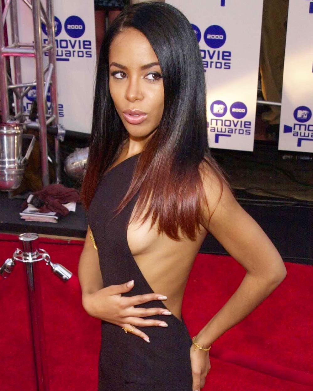 aaliyah red carpet