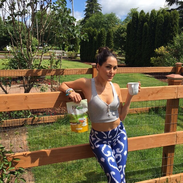 brie bella drinking tea