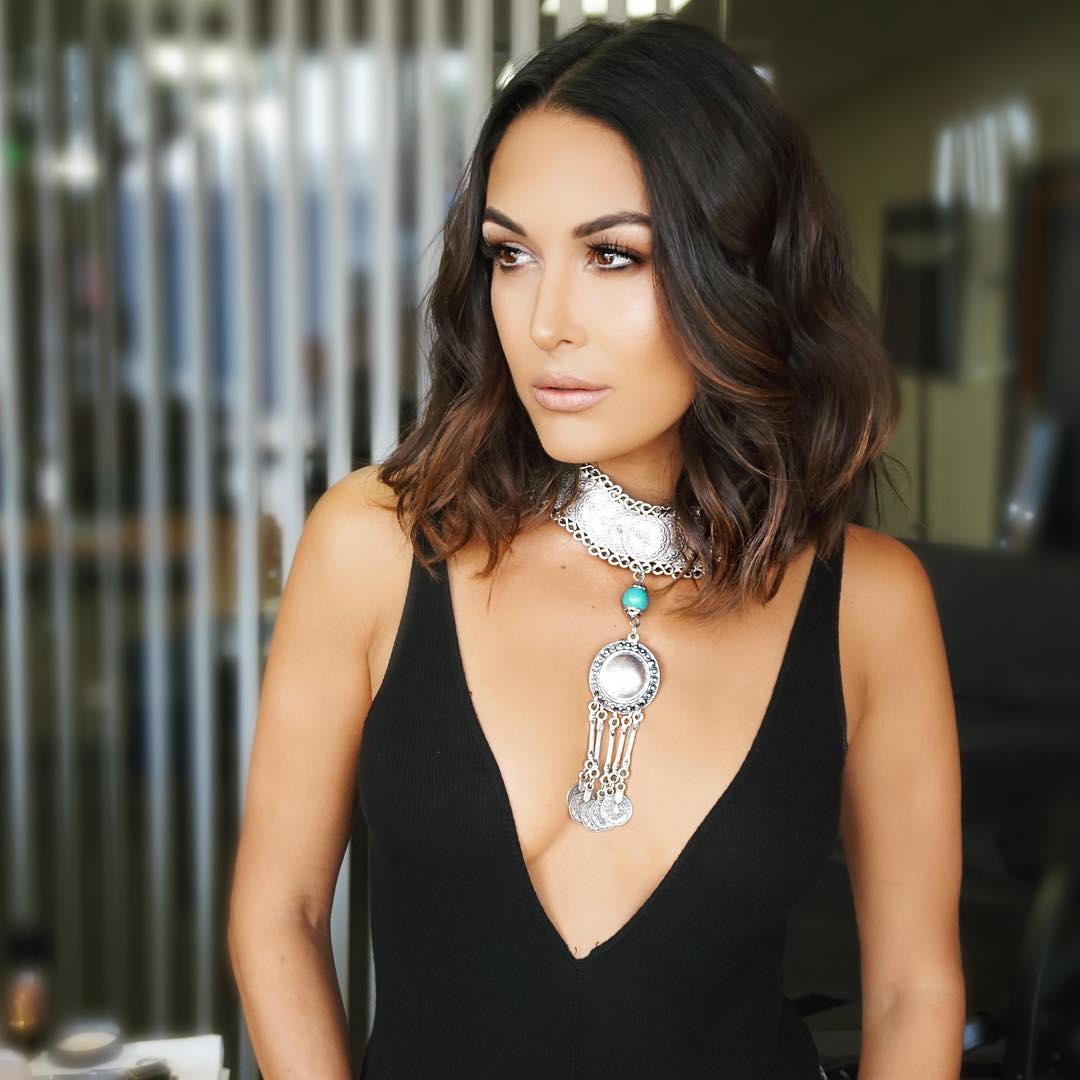 brie bella sexy cleavage