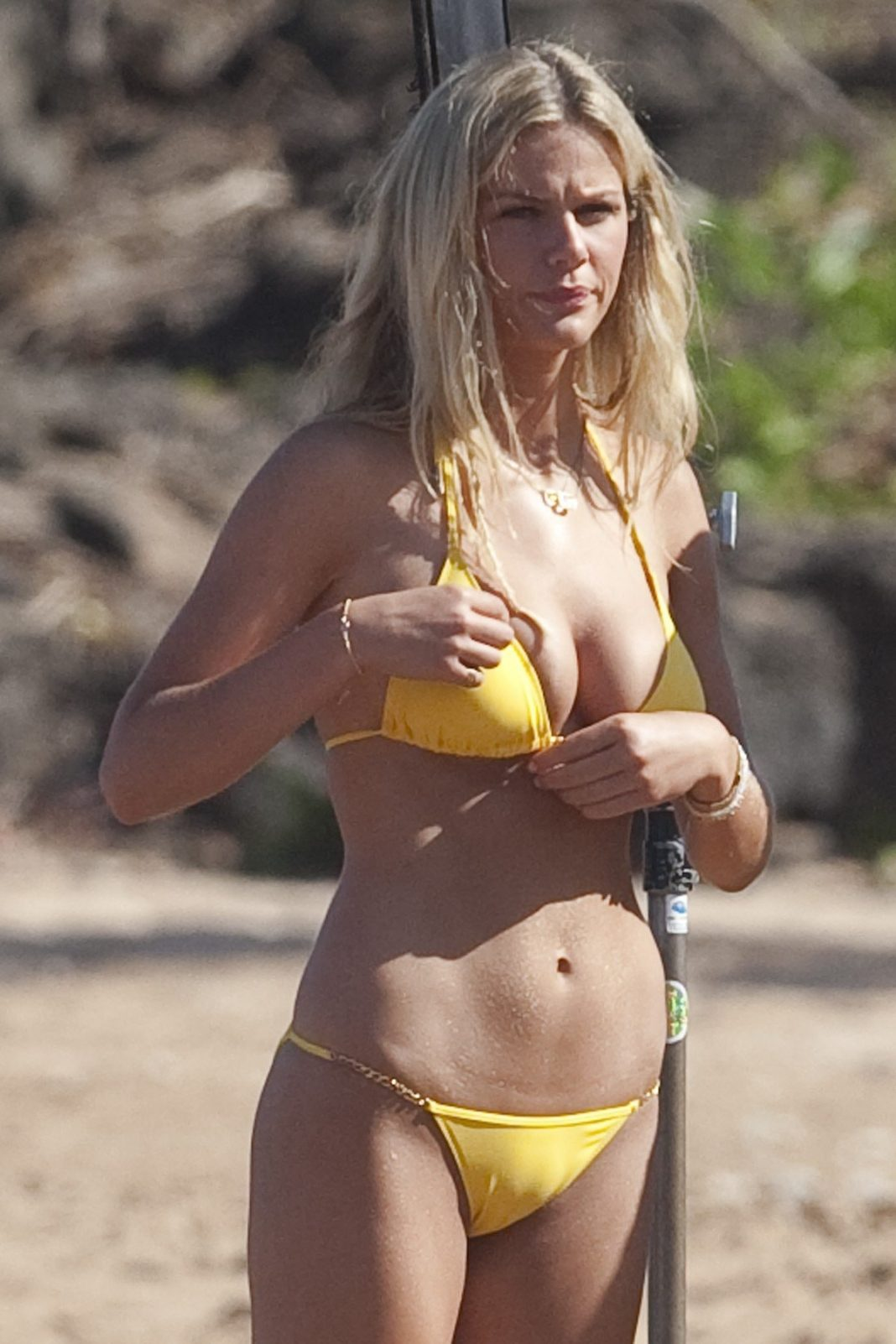 Tit brooklyn decker golden chain bikini fucking the
