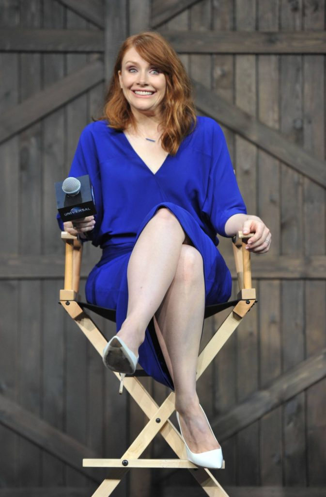 bryce dallas howard awesome blue dress
