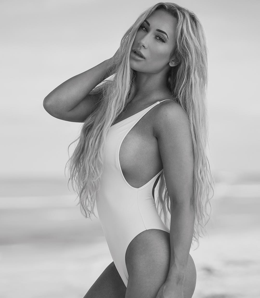 carmella white swimsuit