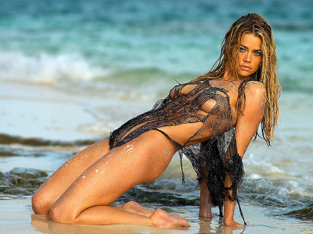 denise richards beach