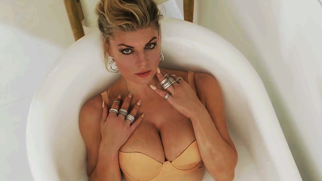 fergie cleavage