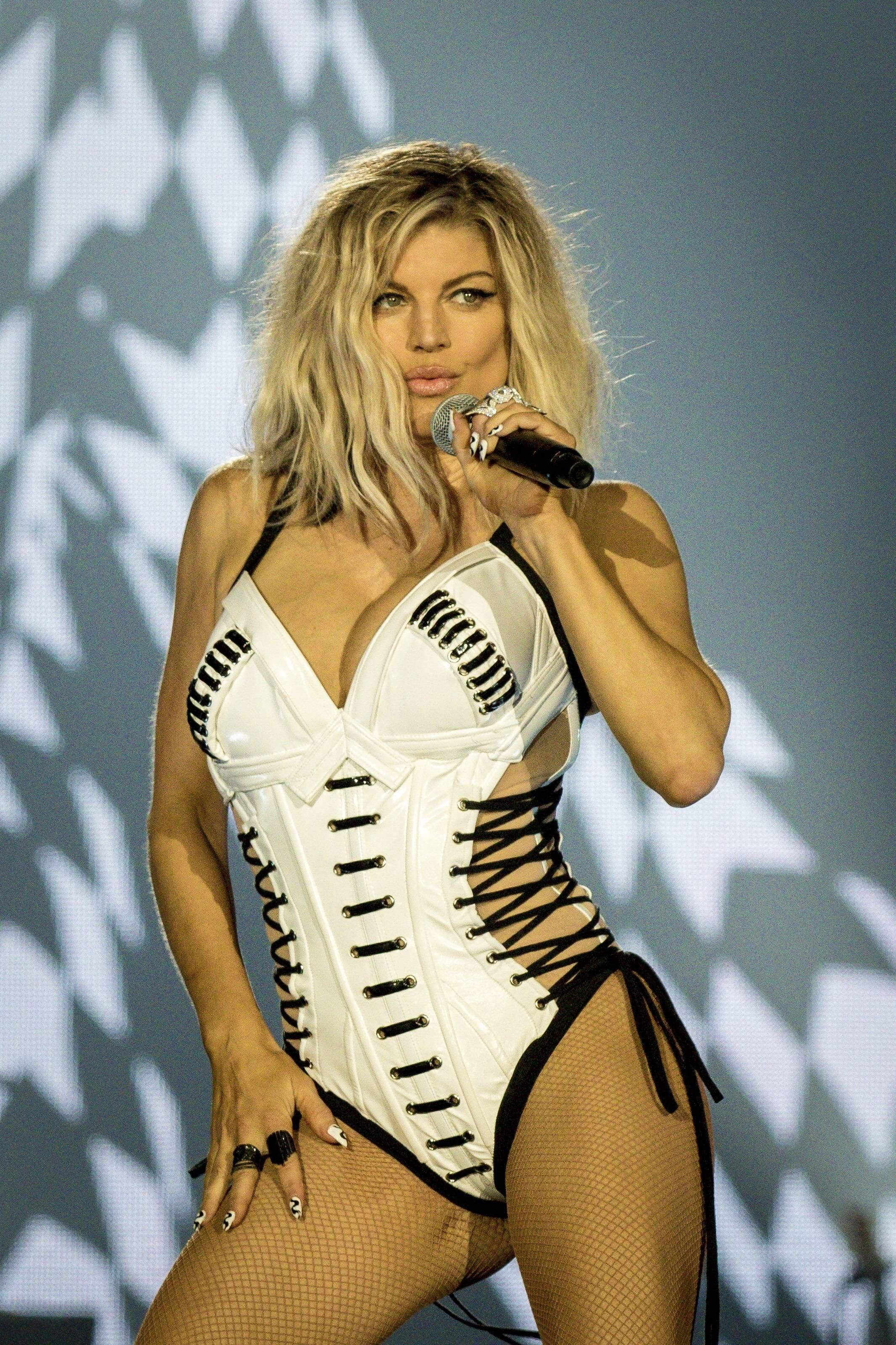fergie white dress