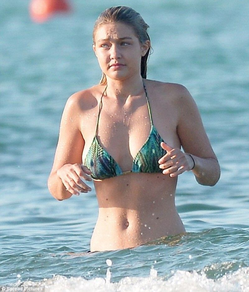 gigi hadid in the water