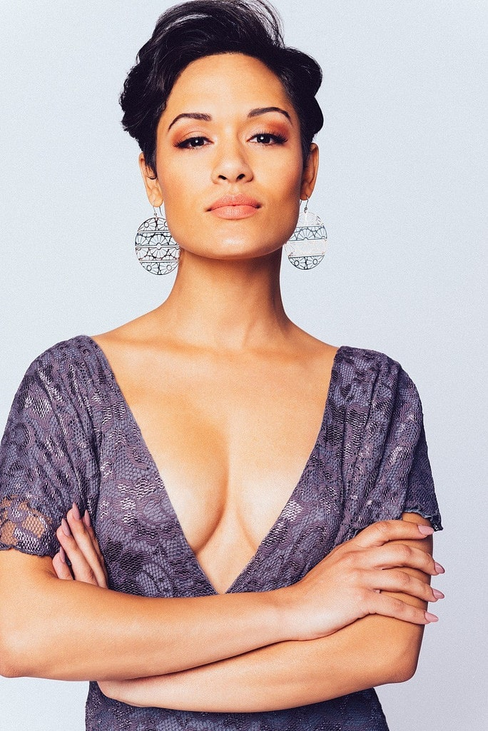 grace byers sexy cleavage