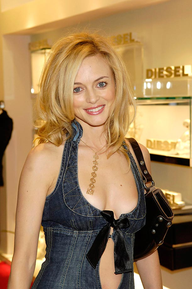 heather graham sexy cleavage