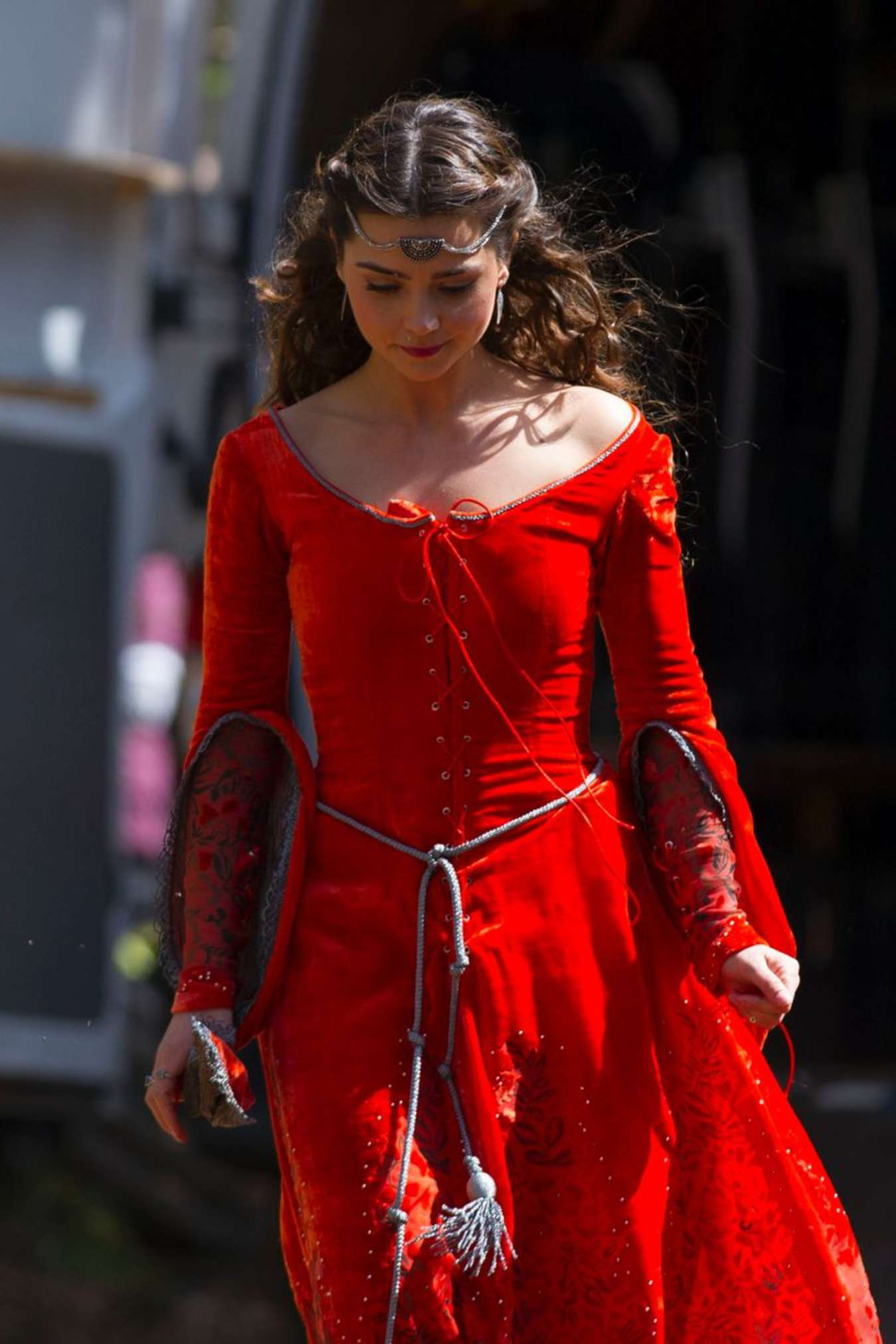 jenna coleman red dress