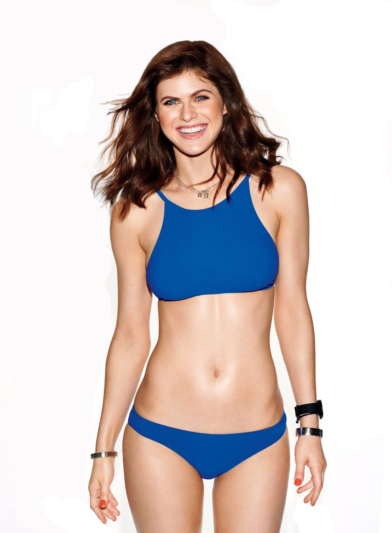 Alexandra Daddario Hot in Blue