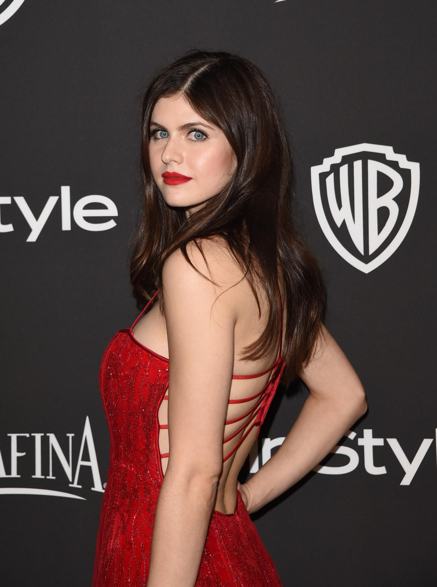Alexandra Daddario Hot in Red