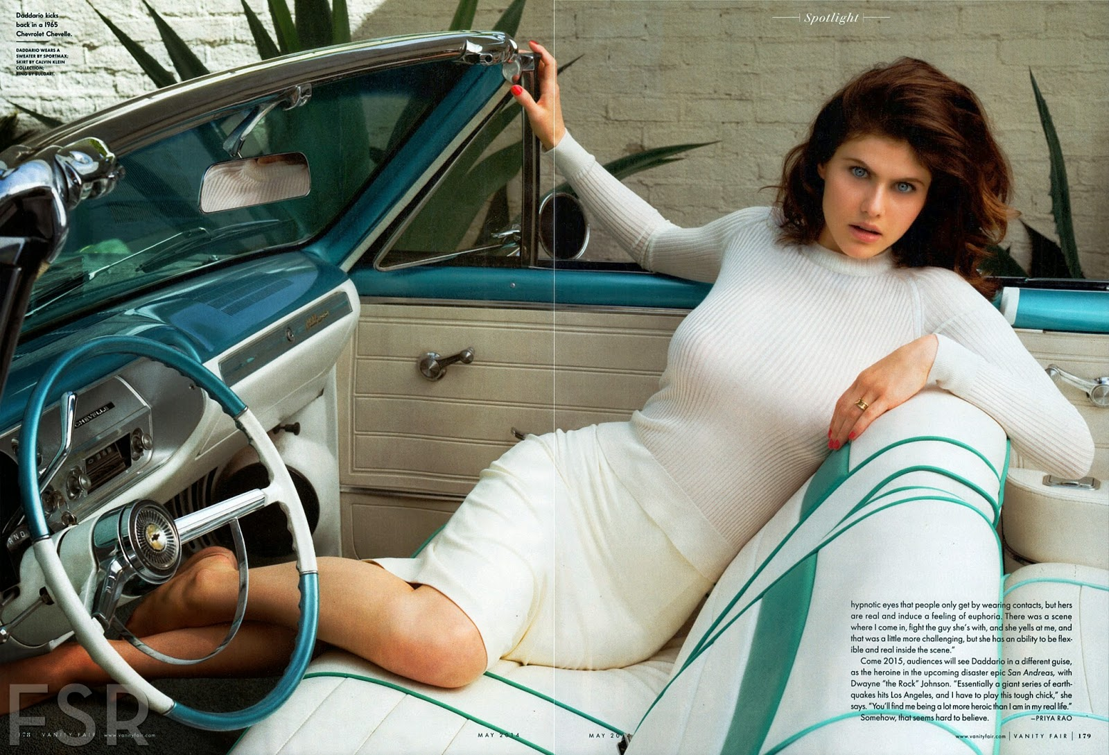 Alexandra Daddario Hot in White