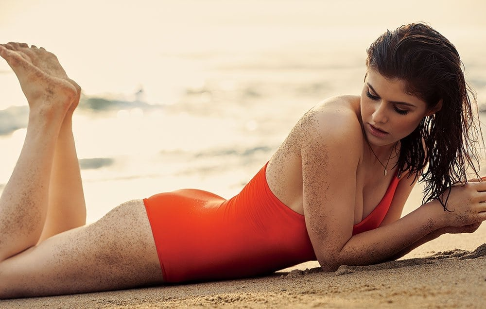 Alexandra Daddario on Beach