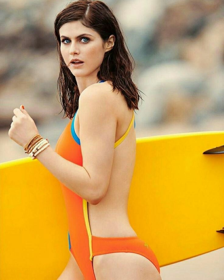 Alexandra Daddario on Surfing