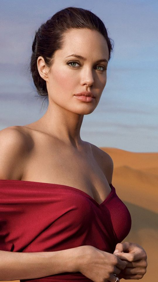 Angelina Jolie Hot in Red