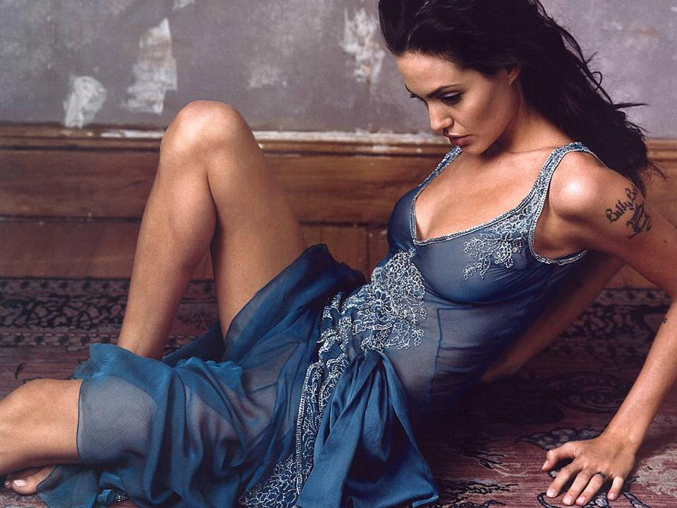Angelina Jolie beautiful on bed