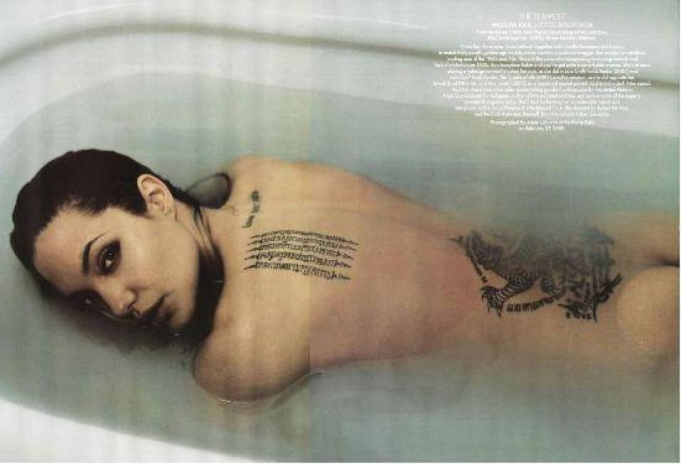 Angelina Jolie naked in water