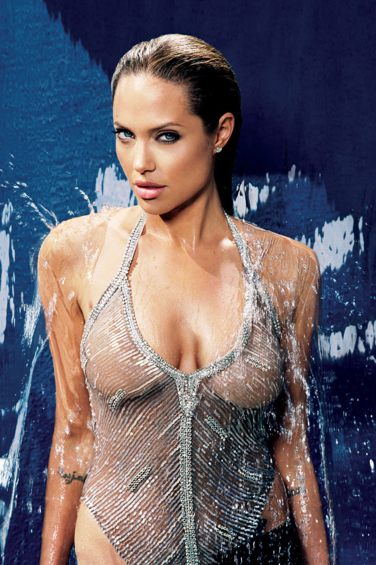 Angelina Jolie very hot cleavage