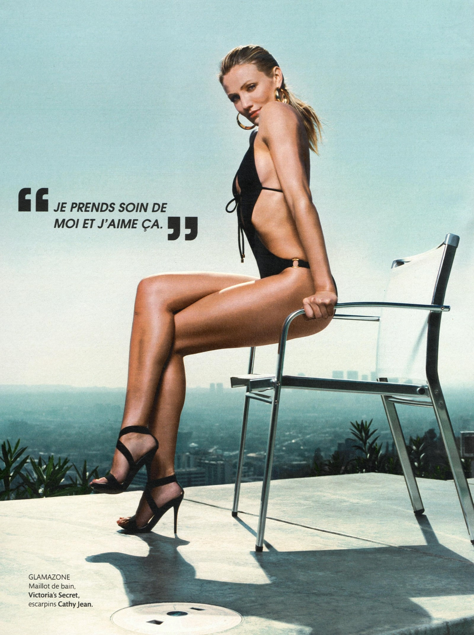 Cameron Diaz in Sexy Swimsuit in French Magazine Madame Figaro-04-min