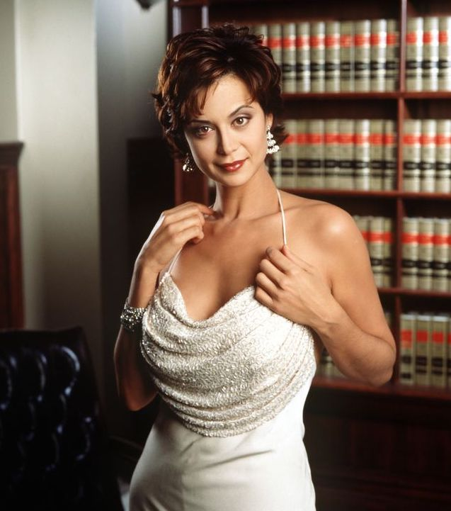 Catherine Bell Hot in White Dress