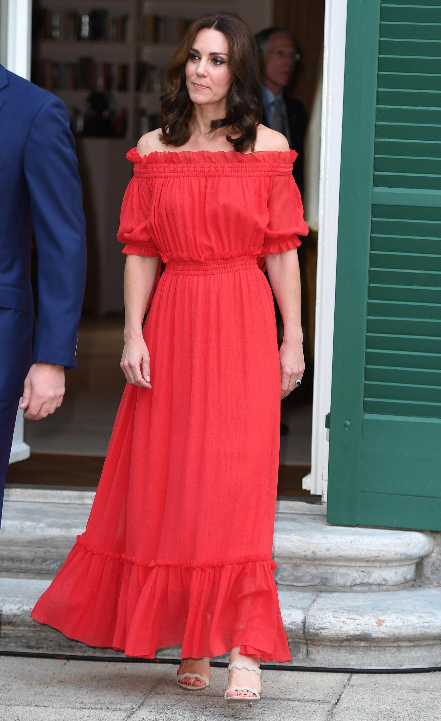 Kate Middleton Dons Sheer Polka-Dotted Dress By Indian