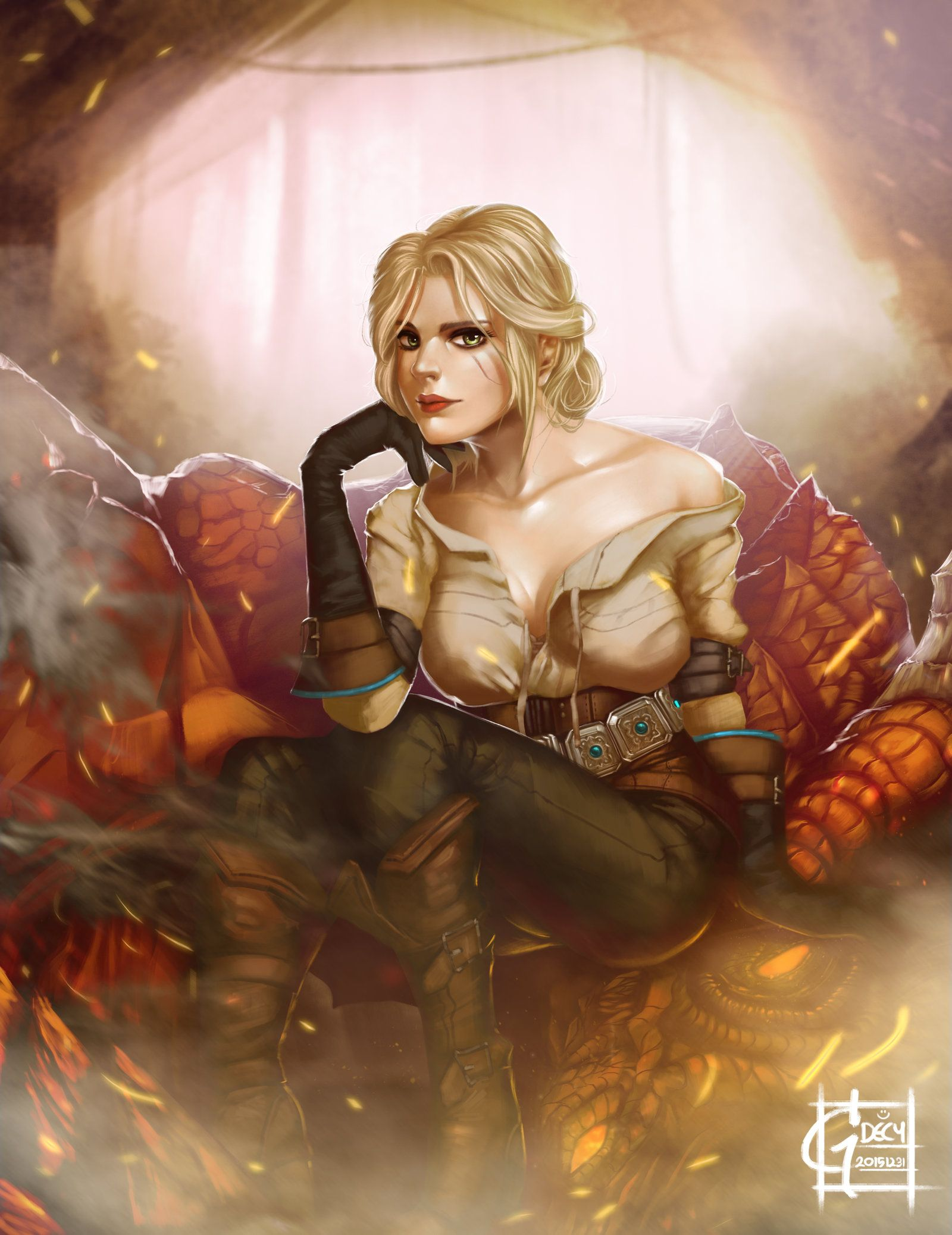 Ciri on Fan Art (2)
