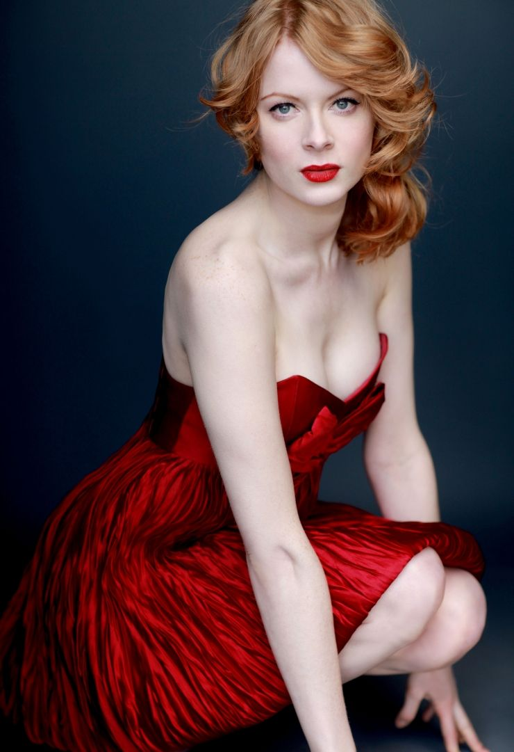 Emily Beecham Hot in Red