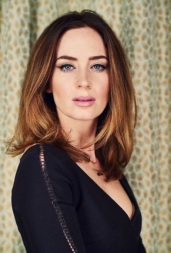 Emily Blunt Hot in Black