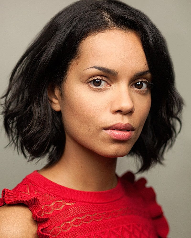 Georgina Campbell Beautifull on Red Dress