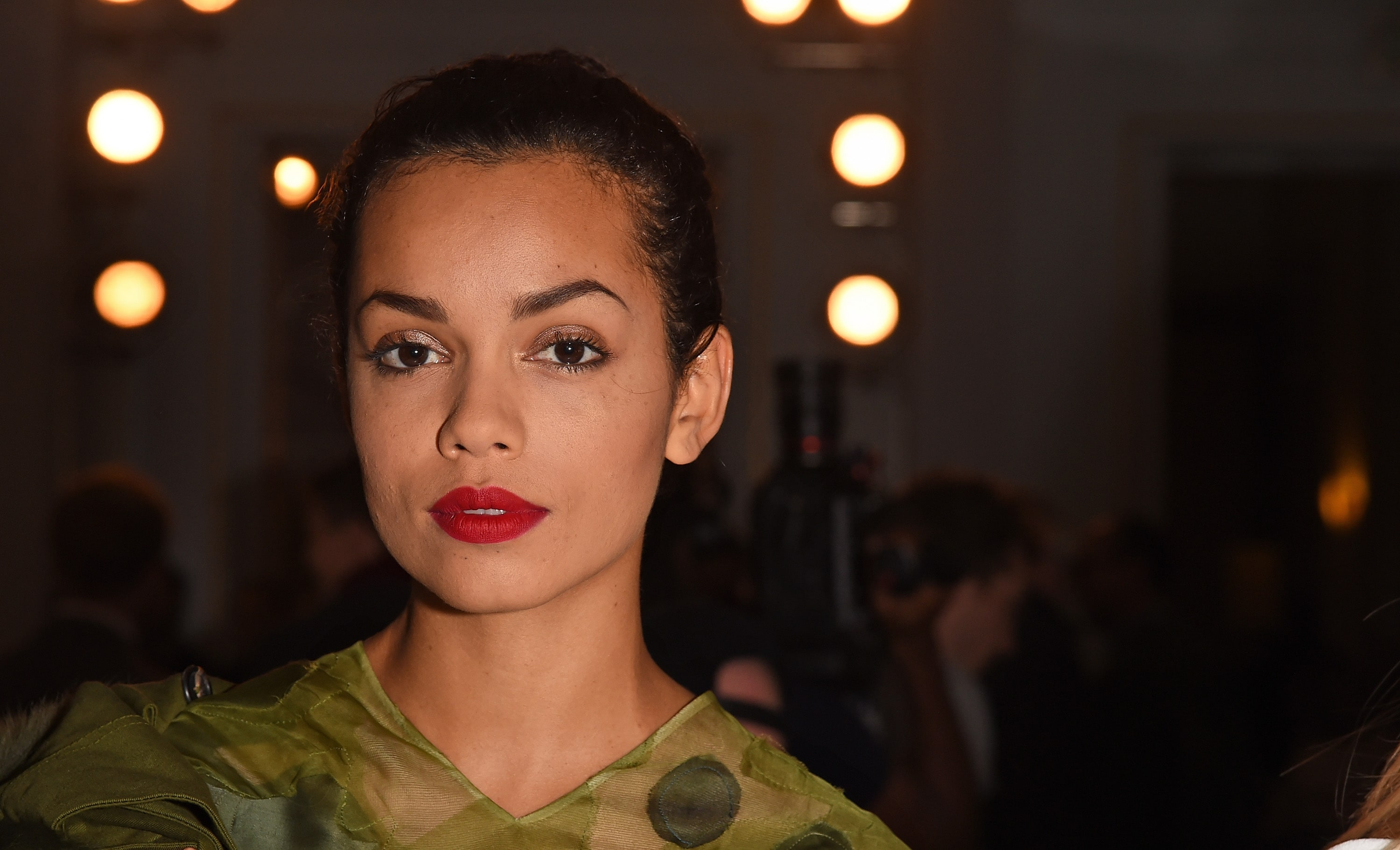 Georgina Campbell Hot in Red Lips