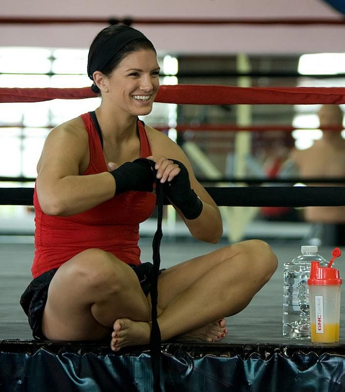 Gina Carano sexy in red