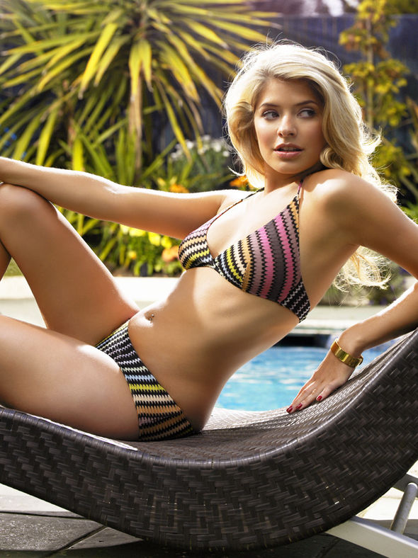 Holly Willoughby on Swimming Pool