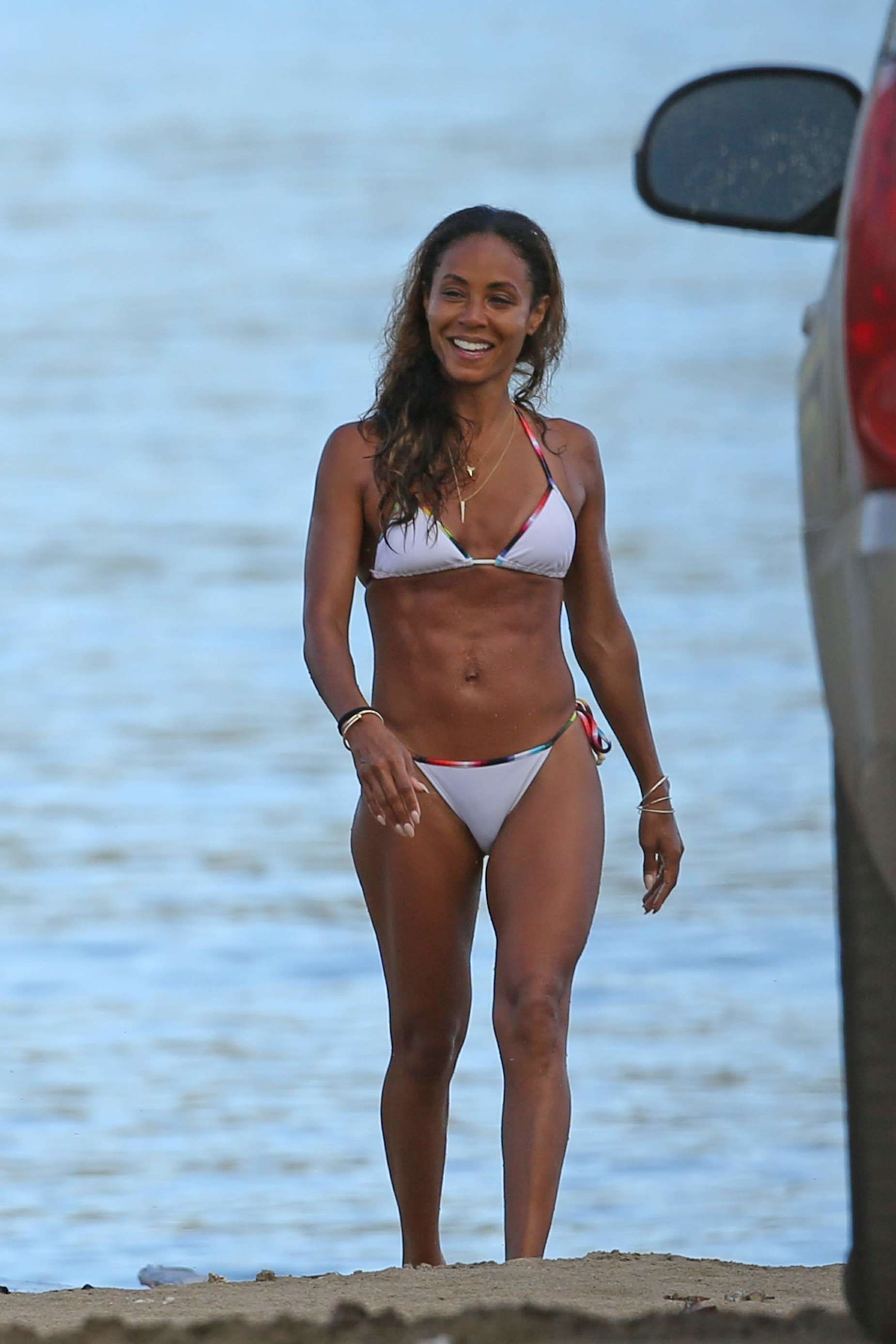 Jada Pinkett Smith on White Bikini