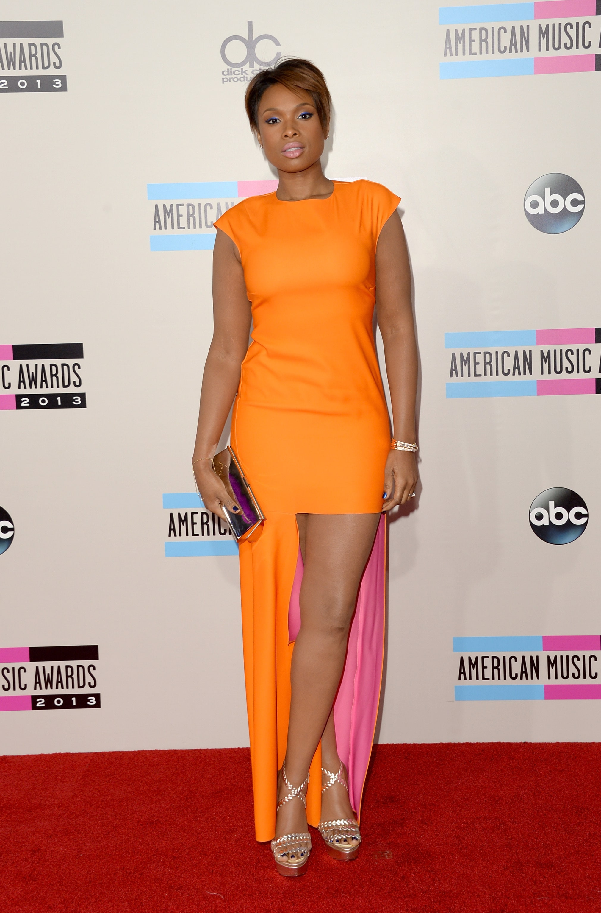 Jennifer Hudson Hot in Orange
