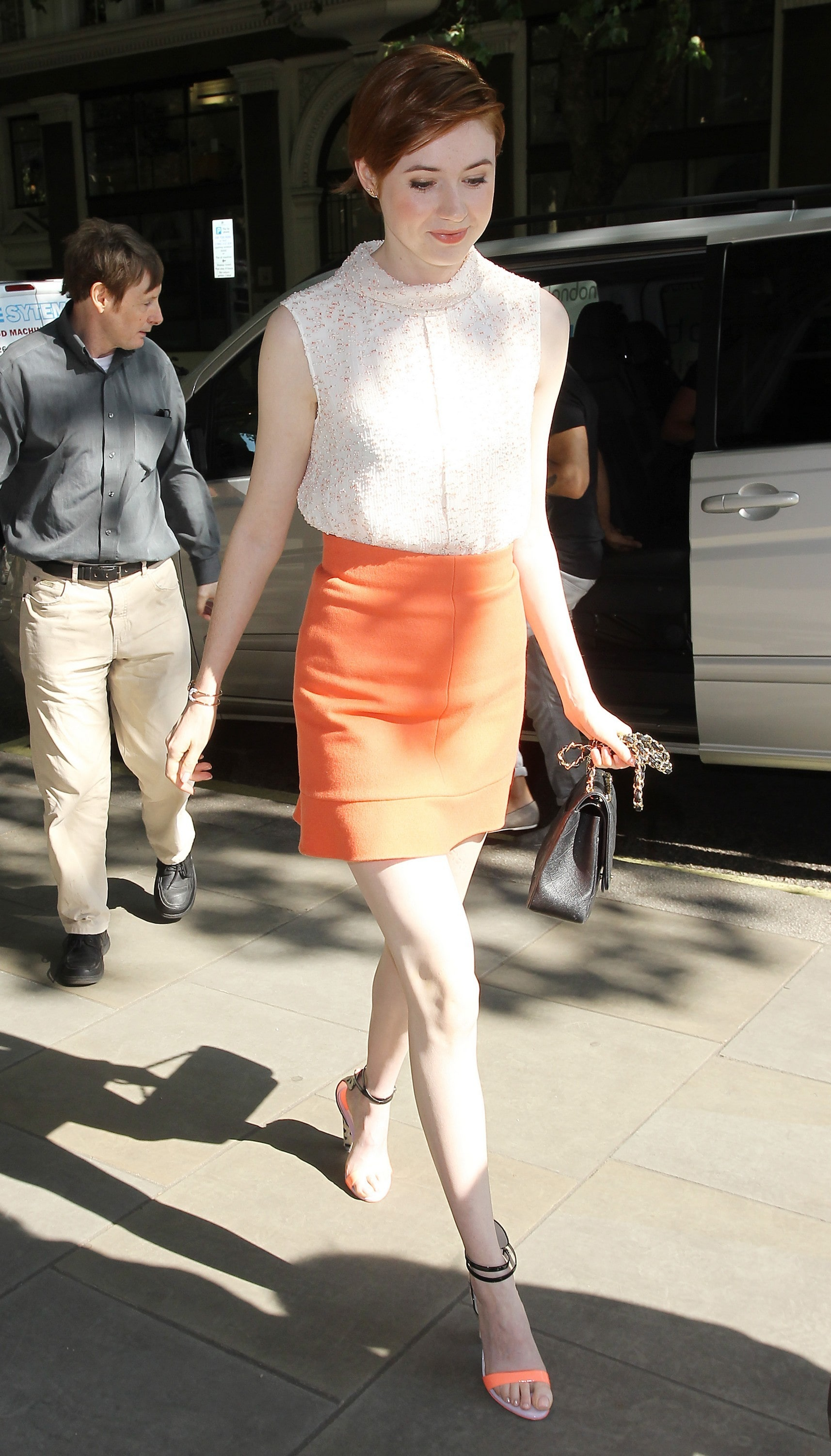 Karen Gillan feet awesome photos