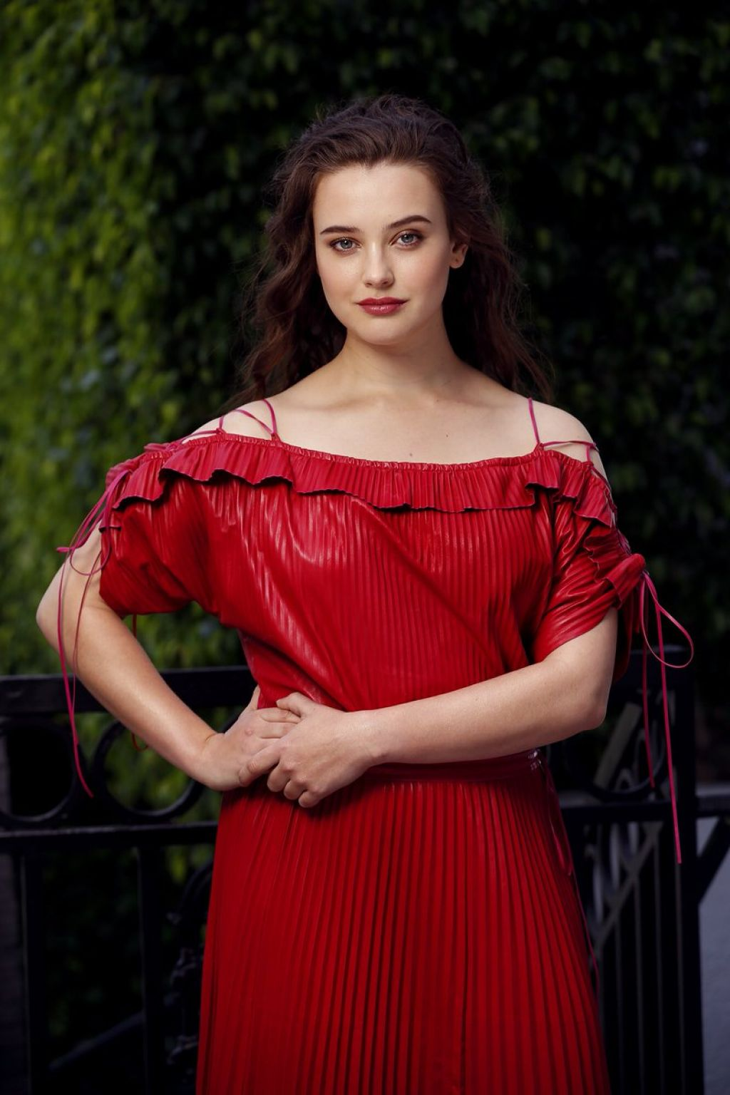 Katherine Langford Hot in Red