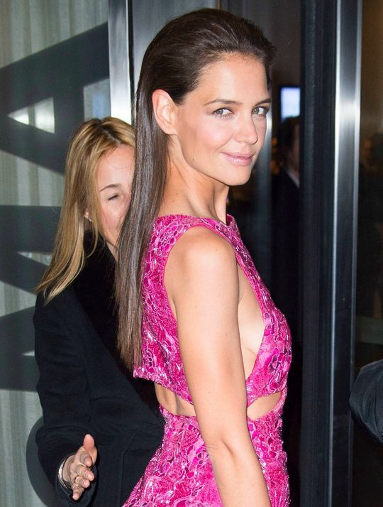 Katie Holmes Hot in Pink