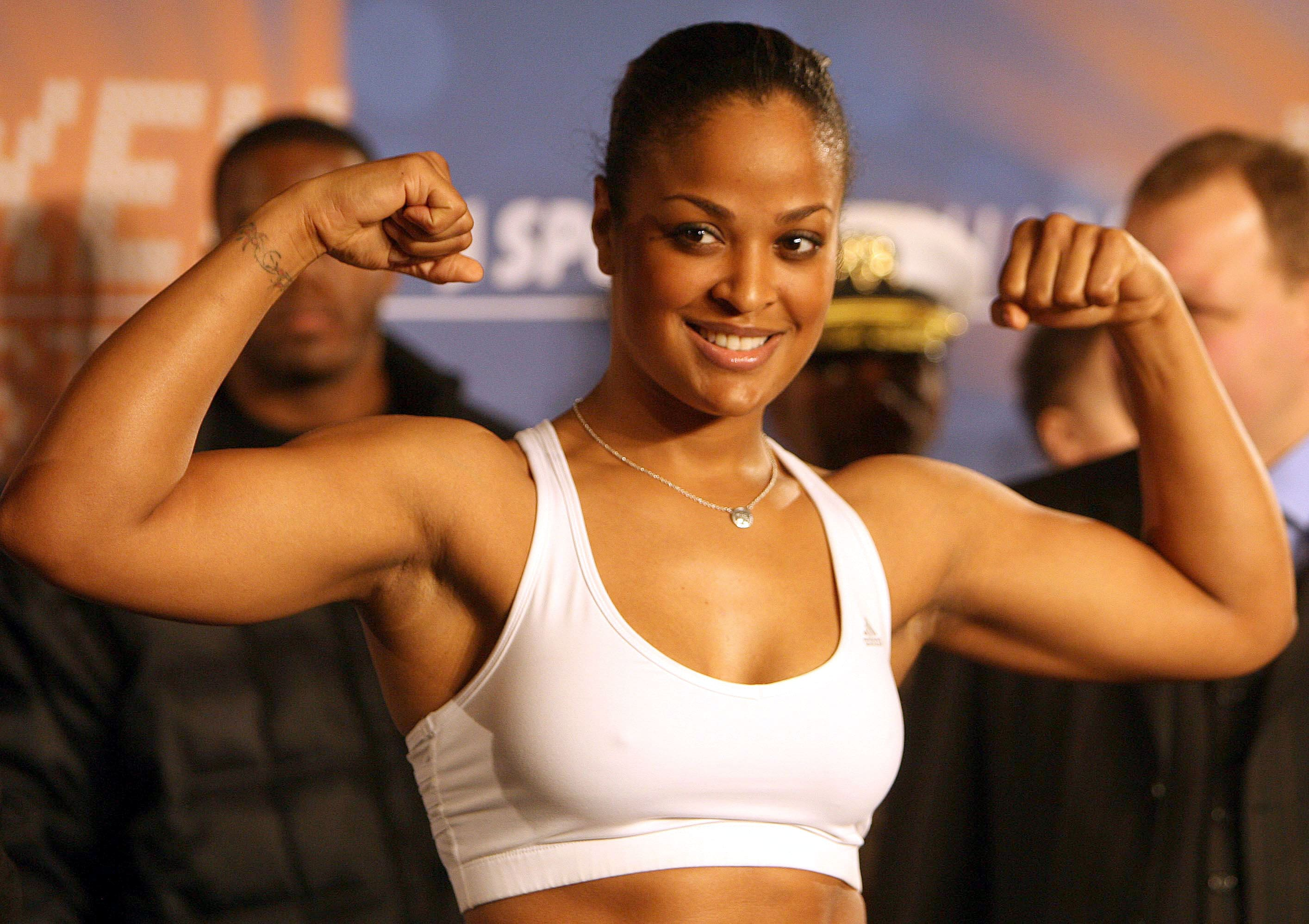 Laila Ali Showing Muscle