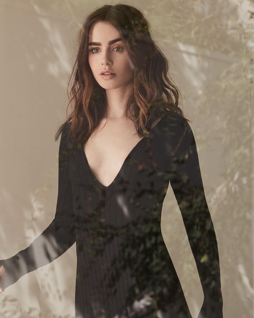 Lily Collins cleavages hots