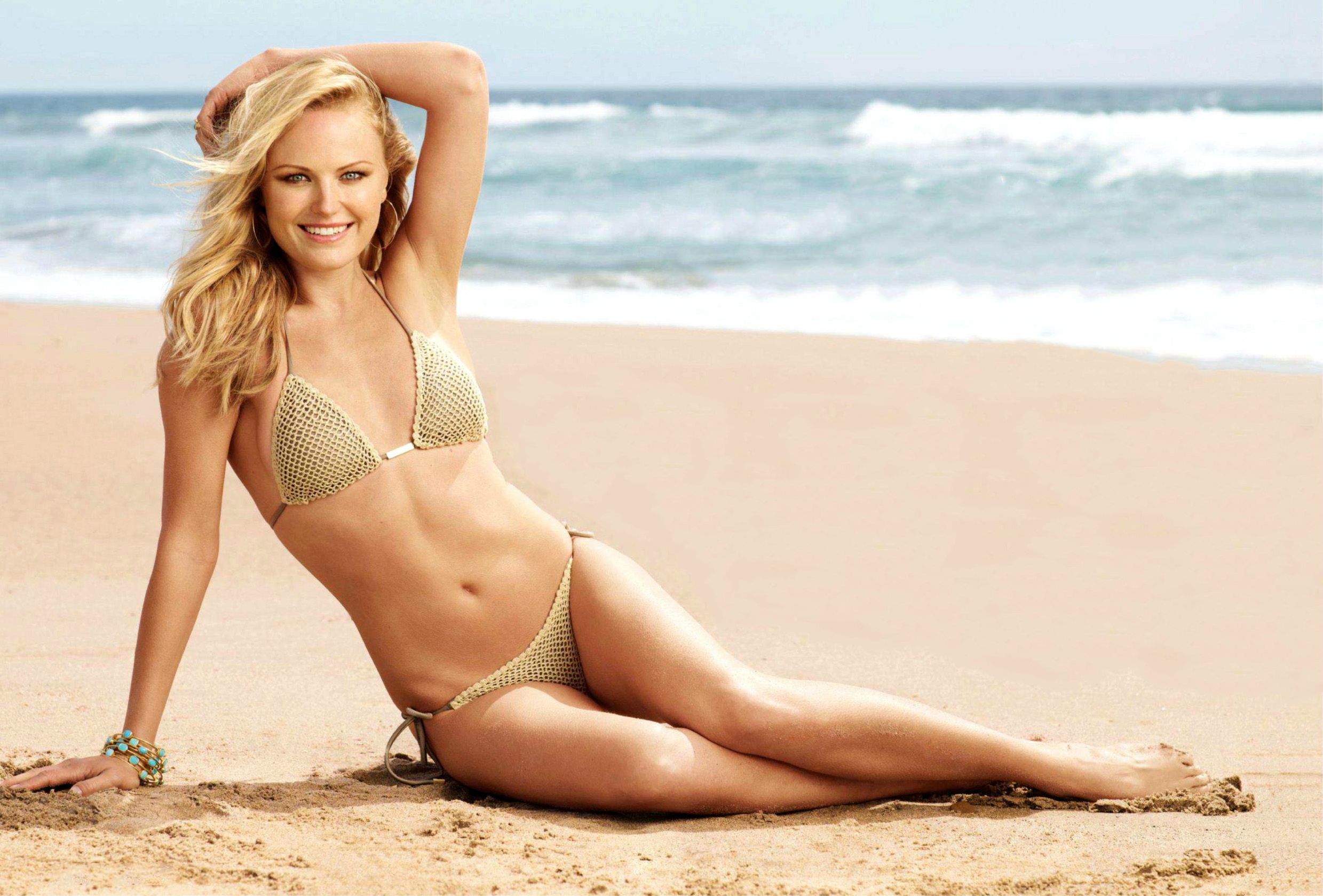 Malin Åkerman on Beach