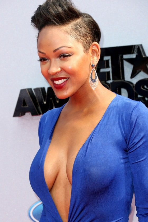 Meagan Good hot cleavages photos