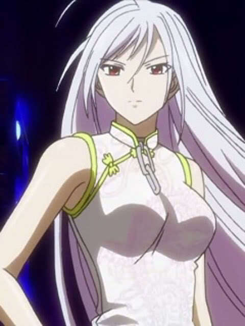 Moka Akashiya white hair