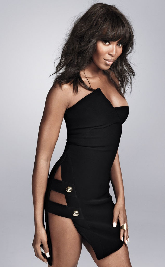 Naomi Campbell Hot in Black