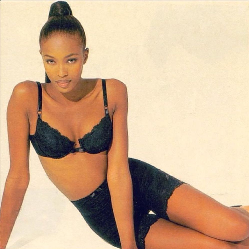 Naomi Campbell Hot in Black Bikini