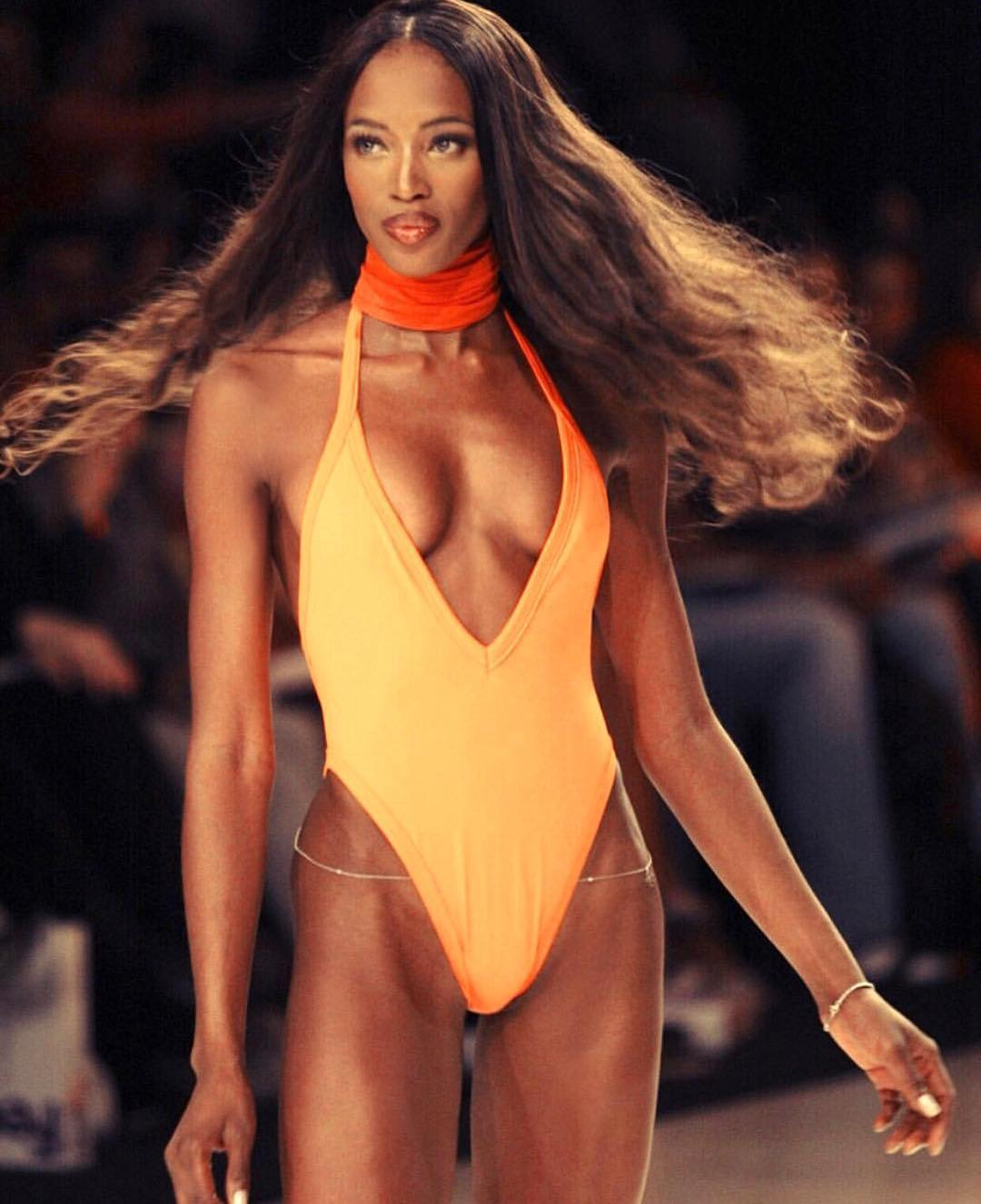 Naomi Campbell Hot on Long Hair
